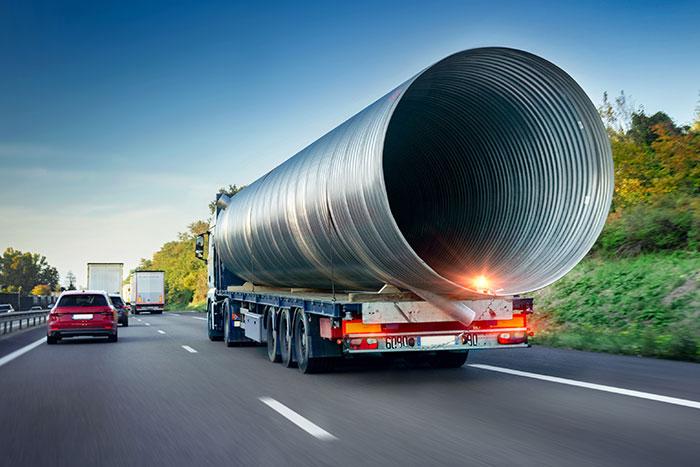 hauling oversized load