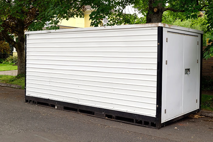storage container delivered for residential use