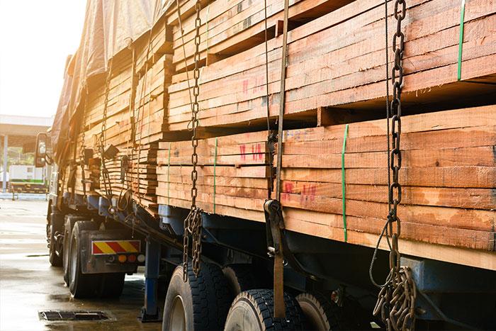 truck hauling lumber